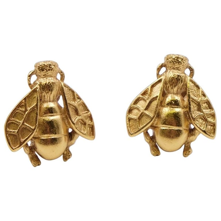 Rare and collectible Christian Dior Bee Earrings For Sale