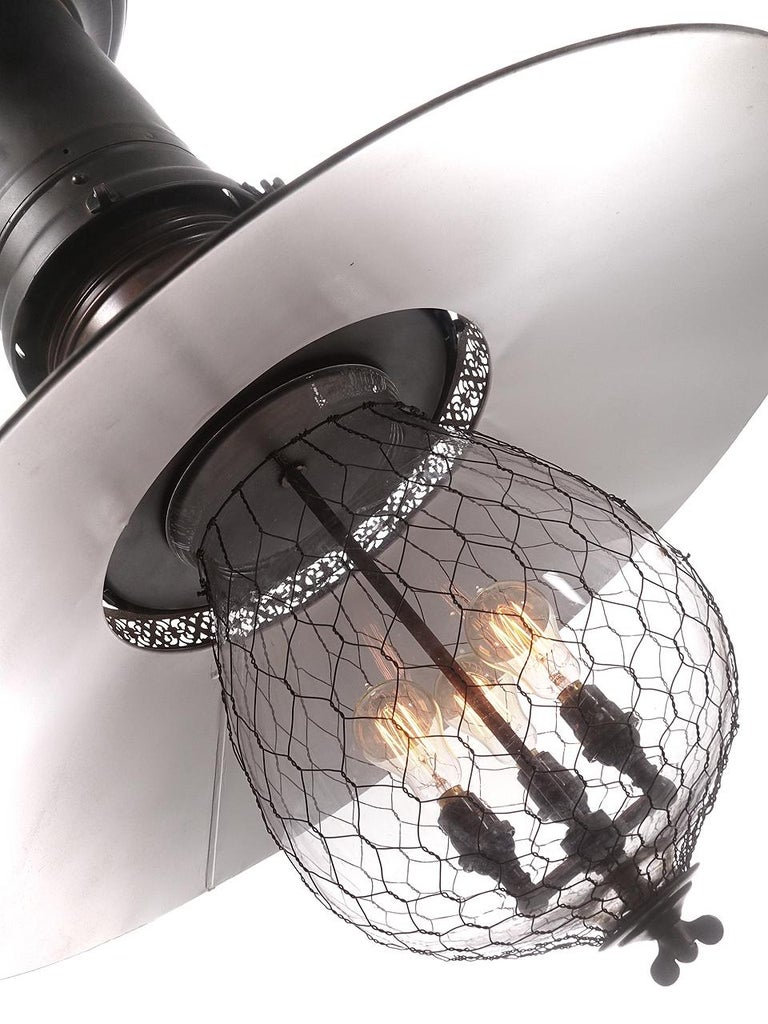 Industrial Rare and Dramatic 1880s Luminator Fairground Lamp For Sale