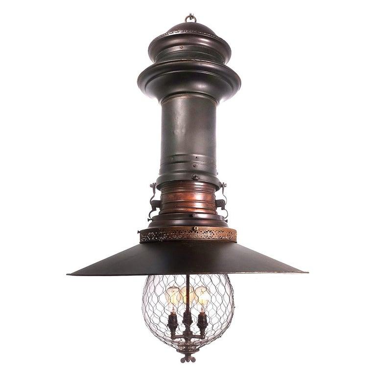 Rare and Dramatic 1880s Luminator Fairground Lamp For Sale