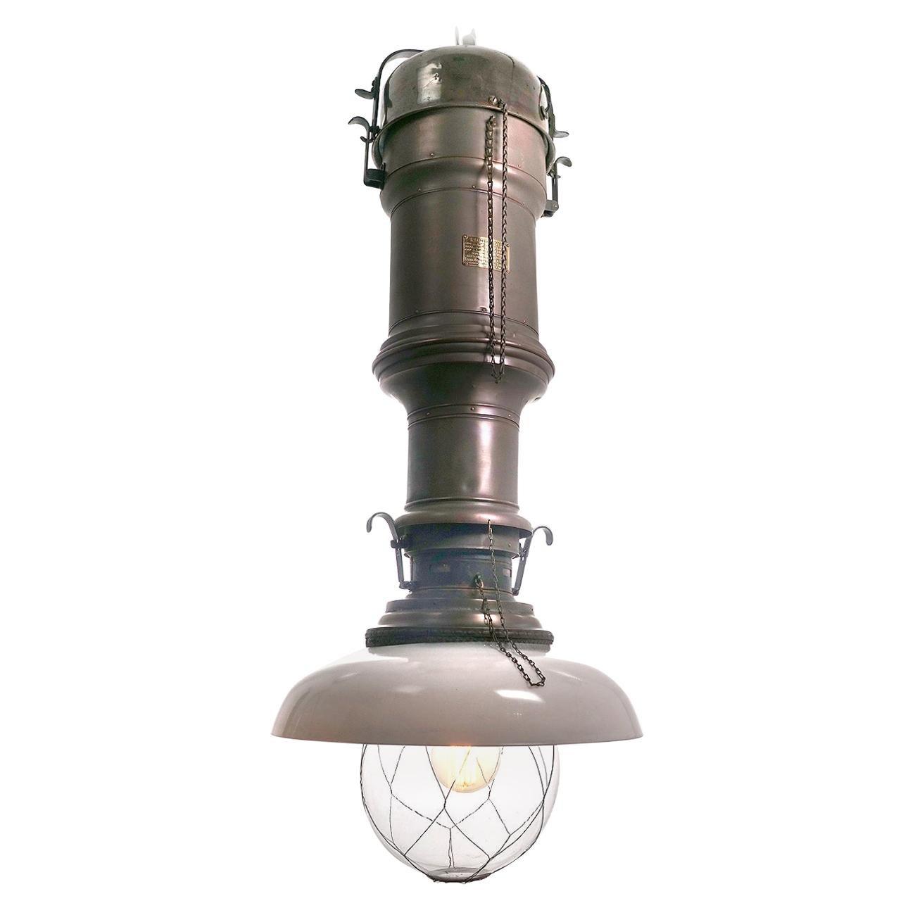 Rare and Dramatic 1880s Luminator Fairground Lamp