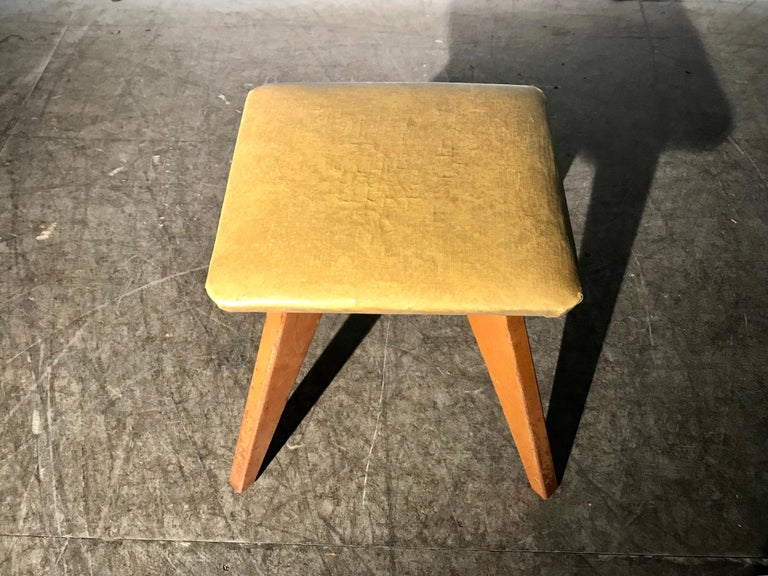 Mid-Century Modern Rare and Early Jens Risom Stool for Knoll Associates, New York City For Sale