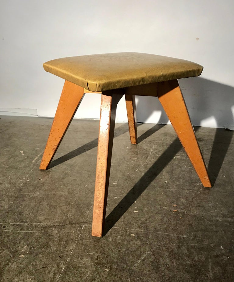 Mid-20th Century Rare and Early Jens Risom Stool for Knoll Associates, New York City For Sale
