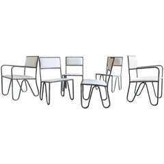 Rare and Early Set of Six Dining Chairs by Walter Lamb