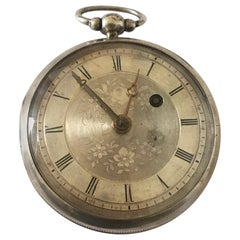 Rare and Early Verge Fusee Antique Silver Pocket Watch