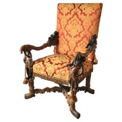 Rare and Elaborately Carved Lolling Chair