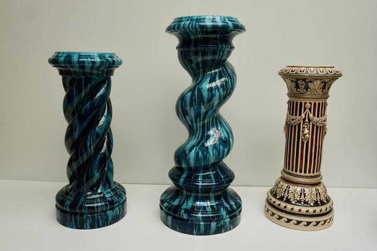 Rare and Elegant Art Nouveau Column Flower Stand For Sale 2