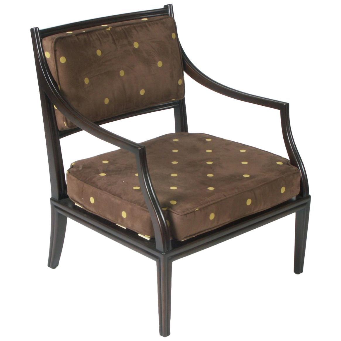 Rare and Elegant Edward Wormley for Dunbar Lounge Armchair