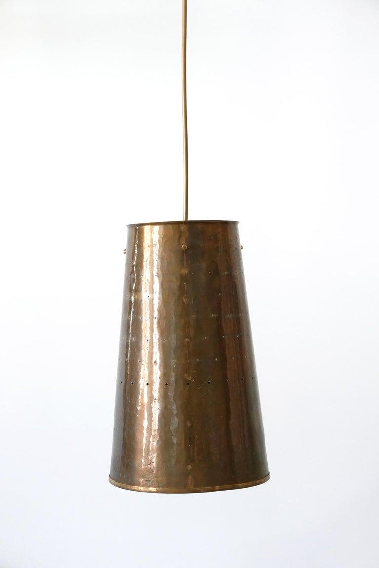 Rare and Elegant Mid-Century Modern Brass Pendant Lamp, 1950s, Germany For Sale 1