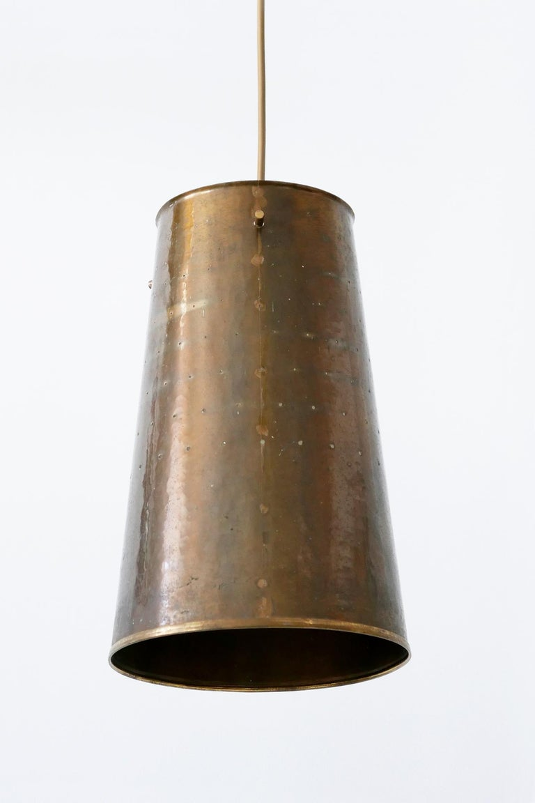 Rare and Elegant Mid-Century Modern Brass Pendant Lamp, 1950s, Germany For Sale 2