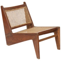 "Rare and Exceptional ""Kangourou"" Chair by Pierre Jeanneret, 1896-1967"