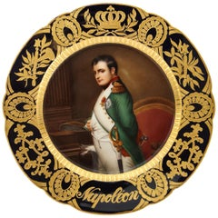 "Rare and Exceptional Royal Vienna Porcelain Plate of ""Napoleon"" by Wagner"
