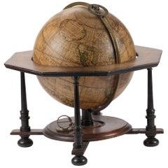 Rare and Fine Terrestrial Table-Globe by Johann Gabriel Doppelmayr '1671-1750'