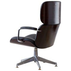 Rare and Fully Restored Executive Swivel Chair by Ico Parisi for MiM Roma