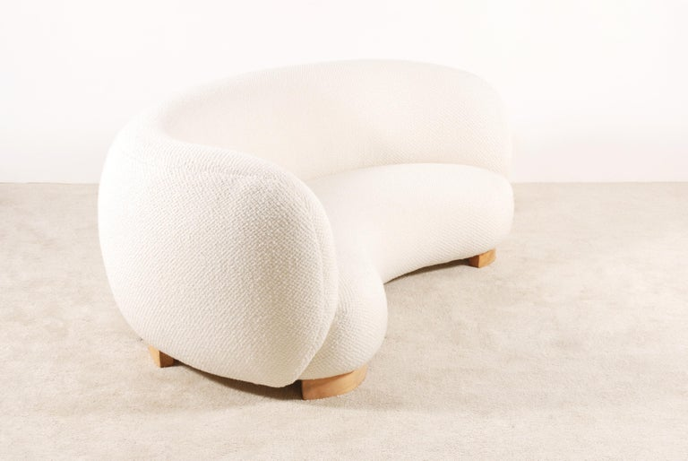 Scandinavian Modern Rare and Gorgeous Danish Curved Sofas from the 1940s For Sale