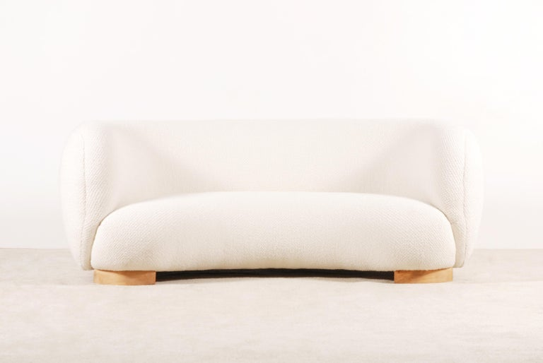 Mid-20th Century Rare and Gorgeous Danish Curved Sofas from the 1940s For Sale