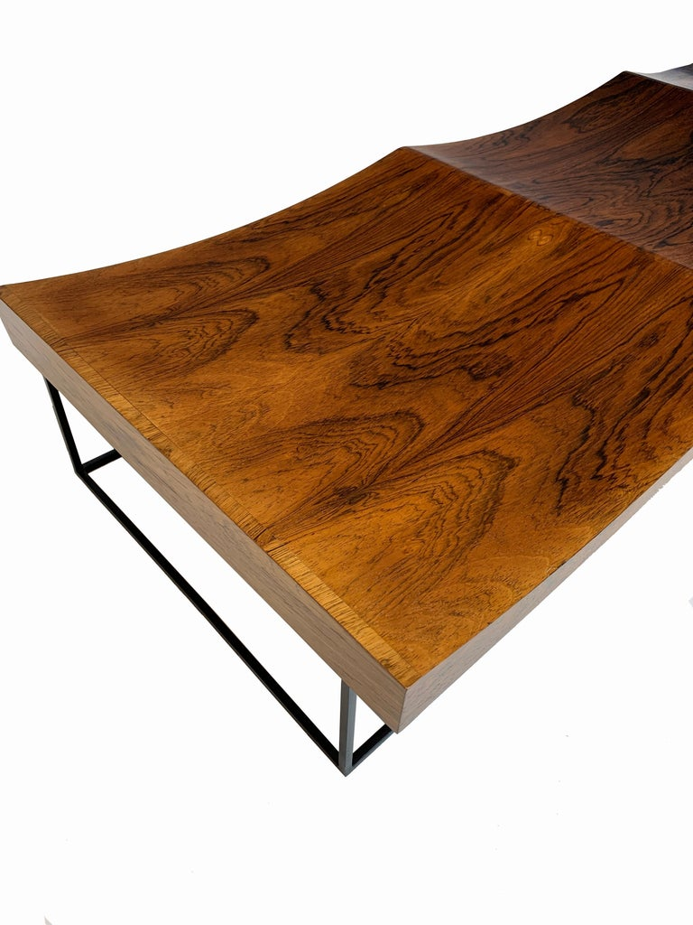 Mid-Century Modern Rare and Important Jorge Zalszupin Onda or Wave Bench for L' Atelier, circa 1963 For Sale
