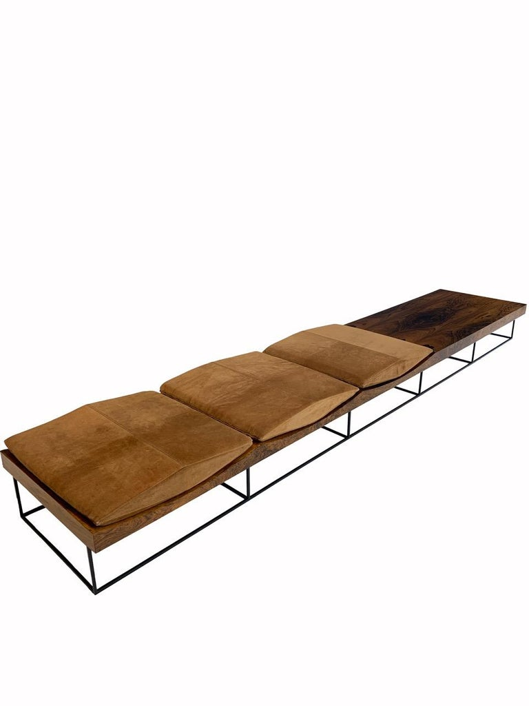 Rare and Important Jorge Zalszupin Onda or Wave Bench for L' Atelier, circa 1963 In Excellent Condition For Sale In San Leandro, CA