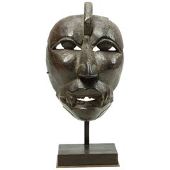Rare and Important Mask Ancient Java Indonesia Awesome Patina and Provenance
