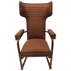"""Rare and Important """"Ohrenbackensessel"""" Chair by Josef Hoffmann"""