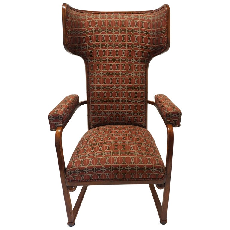"""Rare and Important """"Ohrenbackensessel"""" Chair by Josef Hoffmann For Sale"""
