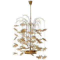 Rare and Important Paavo Tynell 'Fantasia' Snowflake Chandelier for Taito Oy