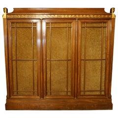 Rare and Magnificent Neoclassical Mahogany Bibliotheque Bookcase