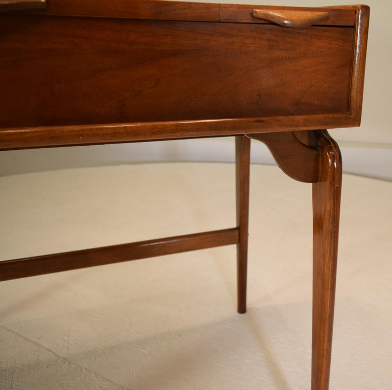 Walnut Rare and Novel Vanity by Warren Church For Sale