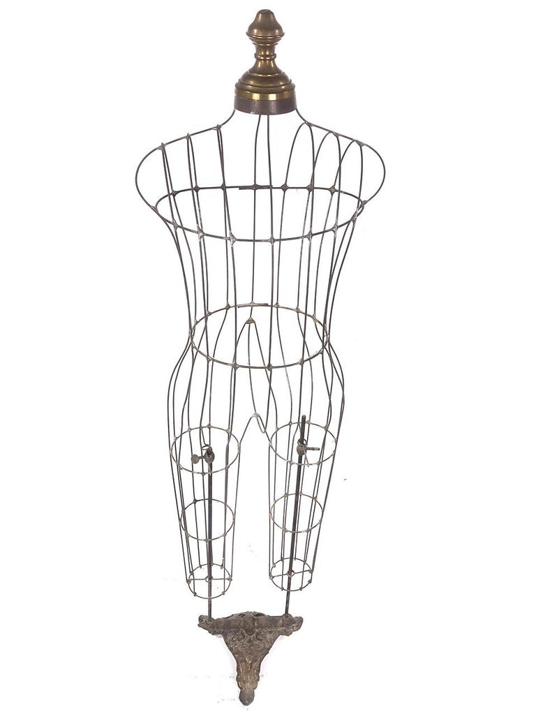 Victorian Rare and Original 1800s Childs Wire Mannequin For Sale