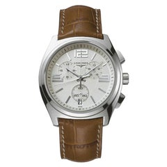 Rare and Special Longines Stainless Steel Chronograph Wristwatch
