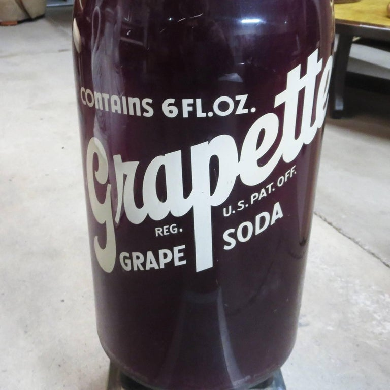 Rare and Unusual 1950s Grapette Soda Bottle Scale In Good Condition For Sale In Los Angeles, CA