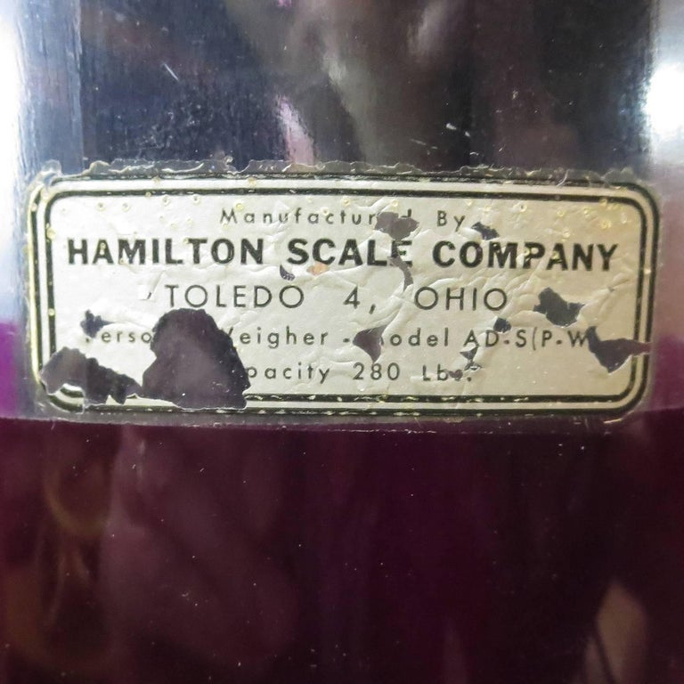 Aluminum Rare and Unusual 1950s Grapette Soda Bottle Scale For Sale