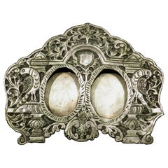 A Rare Anglo Indian Double Miniature Portrait Picture Frame, Circa 1890