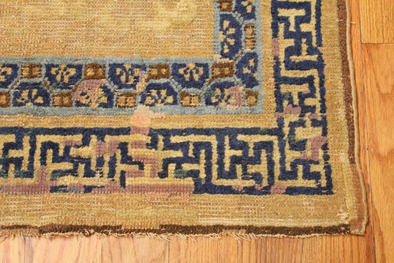 Other Rare Antique 17th Century Chinese Ningsia Rug. Size: 4 ft 7 in x 9 ft  For Sale