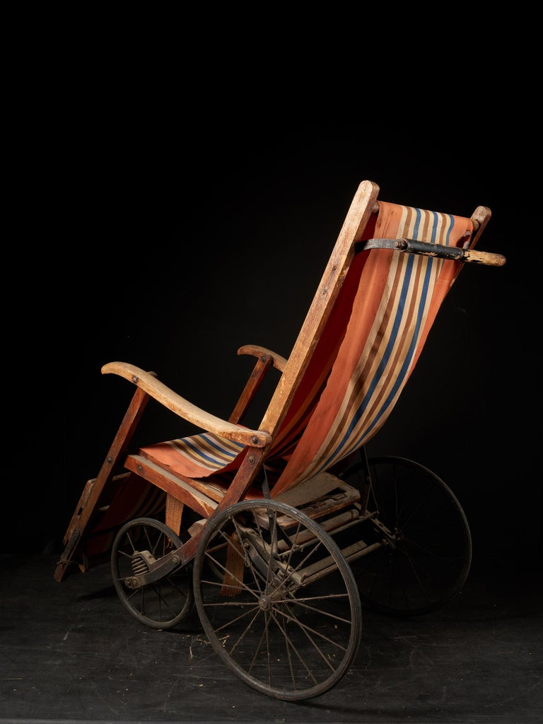 19th Century Rare Antique 4-Wheel Configuration Pushchair from Early 20th Century For Sale