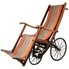 Rare Antique 4-Wheel Configuration Pushchair from Early 20th Century
