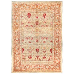 Rare Antique Indian Agra Rug. Size: 10 ft 3 in x 14 ft 4 in (3.12 m x 4.37 m)