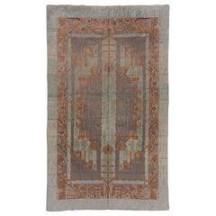 Rare Antique Art Deco Swedish Carpet, Pastel Colors, Soft Tones