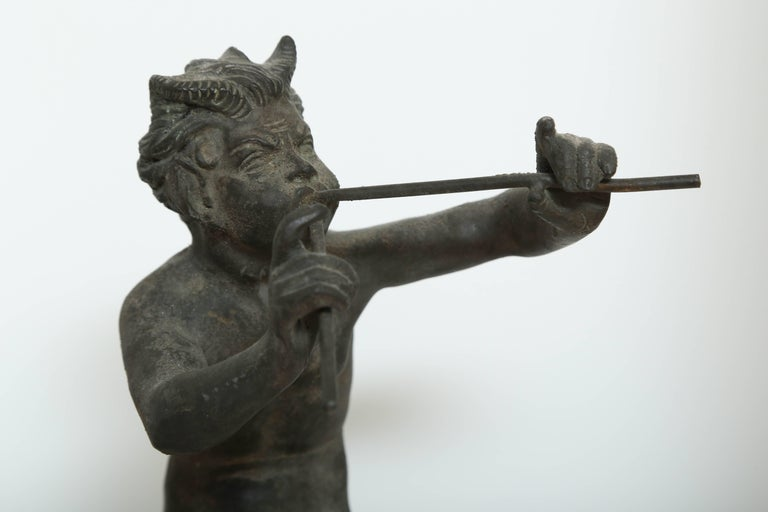 Cast Rare Antique Bronze Sculpture of Pan the Mythological God For Sale