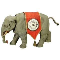 Rare Antique Elephant Clock, circa 1920
