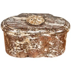 Rare, Antique, French, Chocolate Marble Box