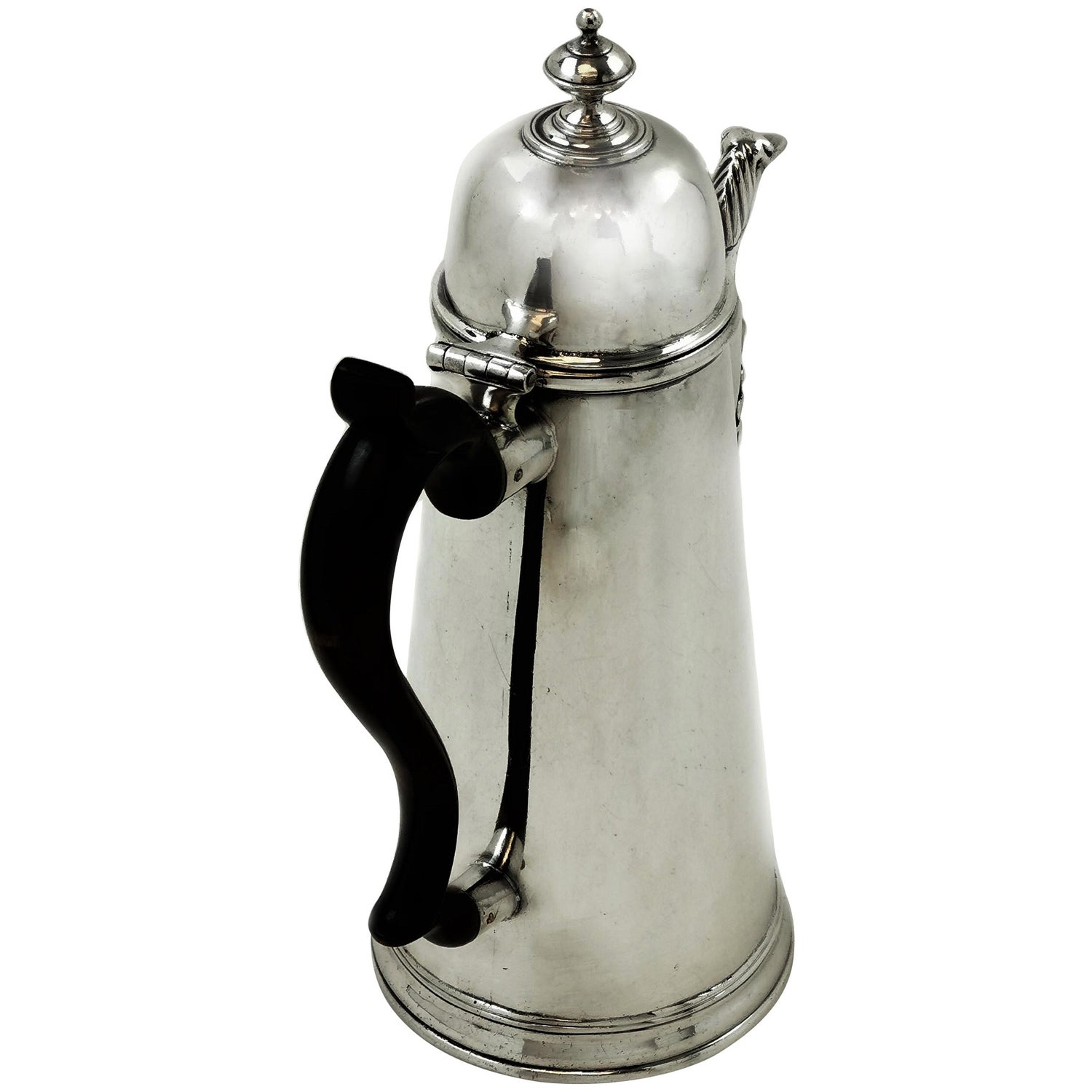 Rare Antique George I Provincial Sterling Silver Coffee Pot Liverpool, 1725