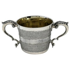 Rare Antique George III Georgian Sterling Silver Cup Two Handled 1802