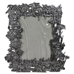 Rare Antique Japanese Silver Wisteria Picture Frame