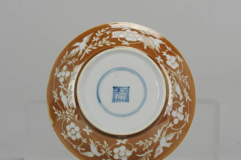 Rare Antique Kangxi Period Chinese Porcelain Cup Saucer Hunting Scene For Sale 7