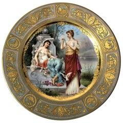 Rare Antique Late 19th Century Royal Vienna Portrait Plate