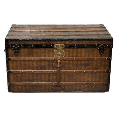 Rare Antique Louis Vuitton Striped Shipping Trunk