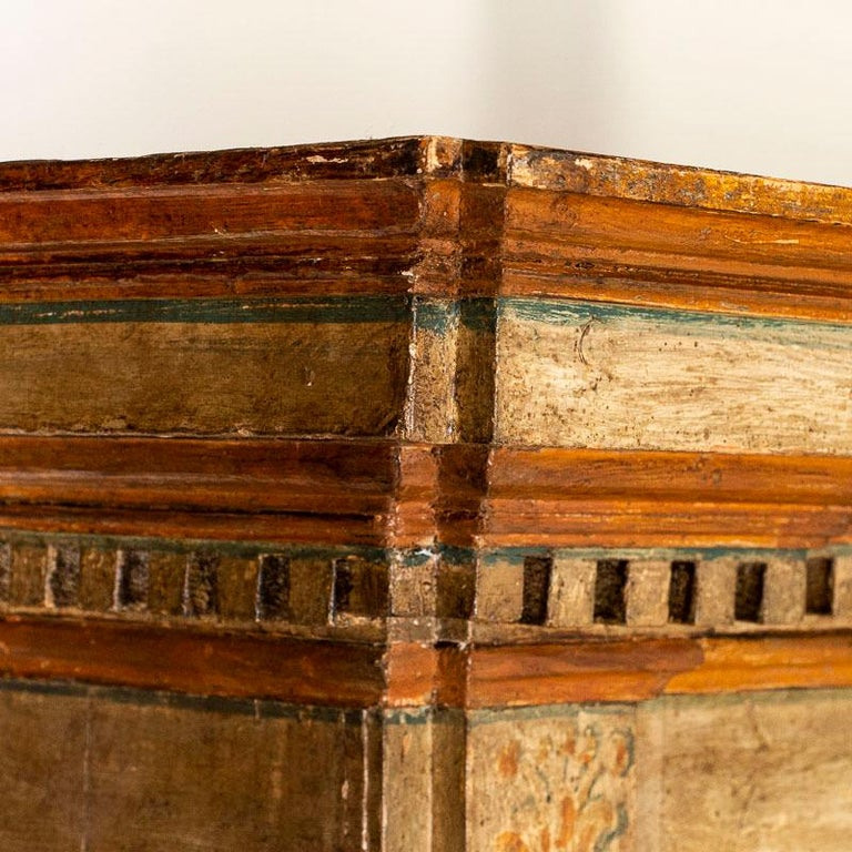 Rare Antique Original Painted Large Bookcase Display Cabinet, Italy Circa 1780-1 For Sale 5