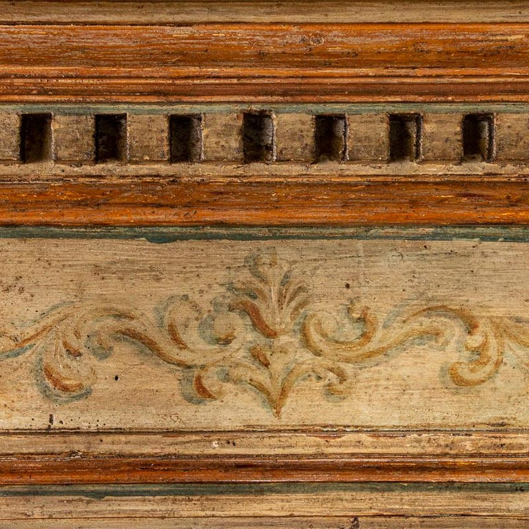 Rare Antique Original Painted Large Bookcase Display Cabinet, Italy Circa 1780-1 For Sale 3