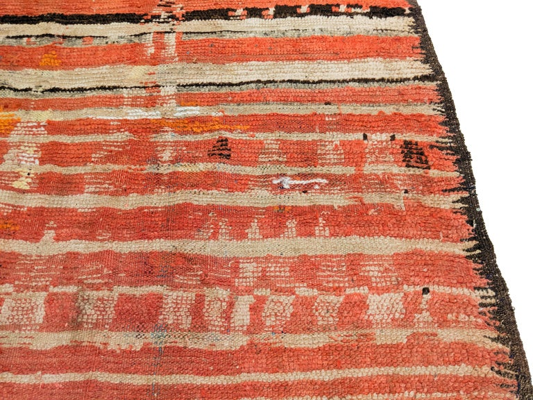 Rare Antique Rehamna Moroccan Berber Rug For Sale 6