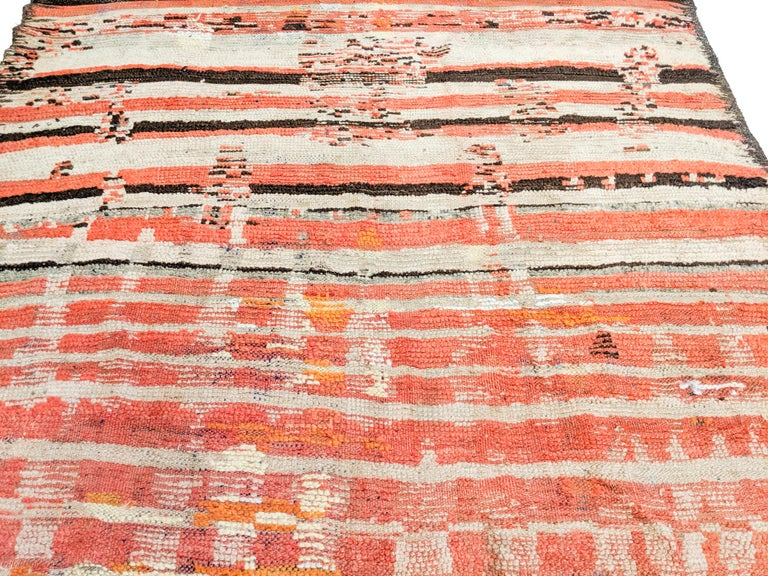 Rare Antique Rehamna Moroccan Berber Rug For Sale 7